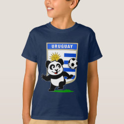Kids' Hanes TAGLESS® T-Shirt with Uruguay Football Panda design