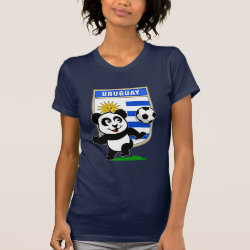 Women's American Apparel Fine Jersey Short Sleeve T-Shirt with Uruguay Football Panda design