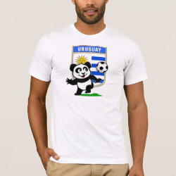Men's Basic American Apparel T-Shirt with Uruguay Football Panda design