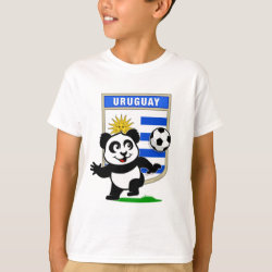 Kids' Hanes TAGLESS® T-Shirt with Uruguay Football Panda design