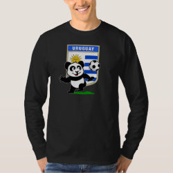 Men's Basic Long Sleeve T-Shirt with Uruguay Football Panda design