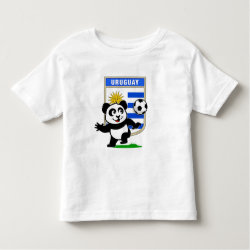 Toddler Fine Jersey T-Shirt with Uruguay Football Panda design