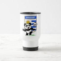 Travel / Commuter Mug with Uruguay Football Panda design