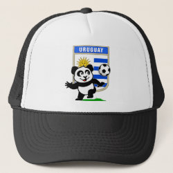 Trucker Hat with Uruguay Football Panda design