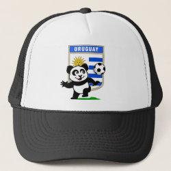 Trucker Hat with Uruguay Football Panda design