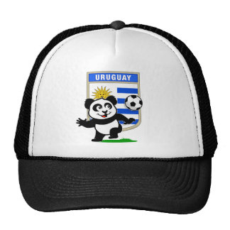 Uruguay Soccer Panda Trucker Hat
