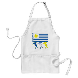 Uruguay Soccer Players Adult Apron