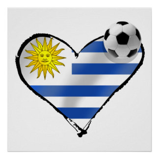 Uruguay Soccer T-shirts and gifts Poster