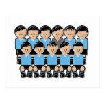 Uruguay soccer team.ai tarjeta postal