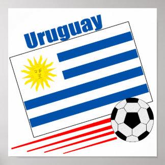 Uruguay Soccer Team Poster