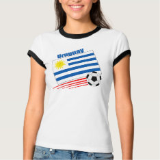 Uruguay Soccer Team T-shirt at Zazzle
