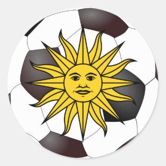 """Uruguay """"solenoide de Mayo """" Pegatina Redonda"""