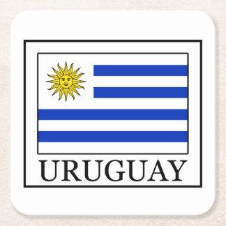 Uruguay Square Paper Coaster