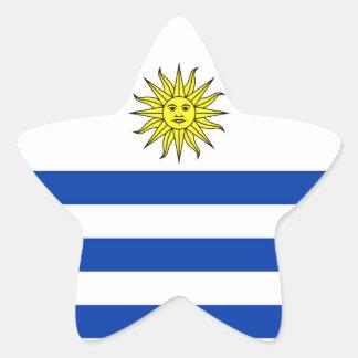 Uruguay Star Sticker