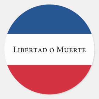 Uruguay/Uruguayan 33 Flag. Libertad Muerte Classic Round Sticker