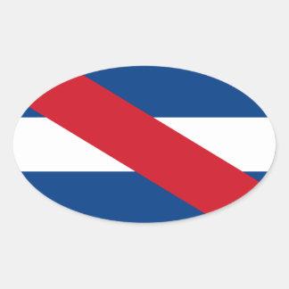 Uruguay/Uruguayan Artigas Flag Oval Sticker