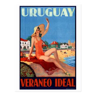 Uruguay Veraneo Ideal Vintage Travel Poster Postcard