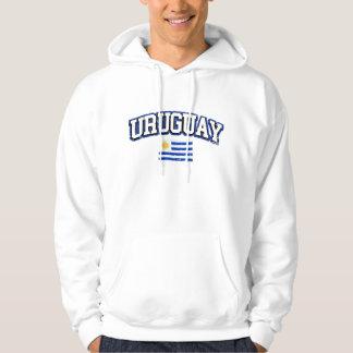 Uruguay Vintage Flag Hoodie