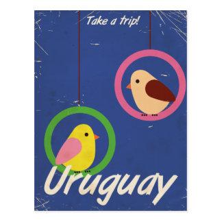 Uruguay vintage travel poster postcard