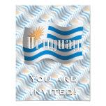 Uruguay Waving Flag 4.25x5.5 Paper Invitation Card