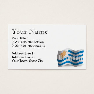 Uruguay Waving Flag Business Card