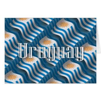 Uruguay Waving Flag Card
