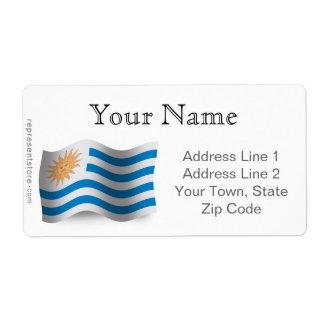 Uruguay Waving Flag Label