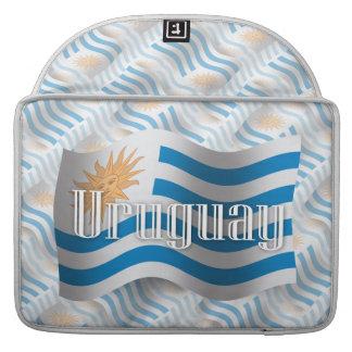 Uruguay Waving Flag Sleeves For MacBooks