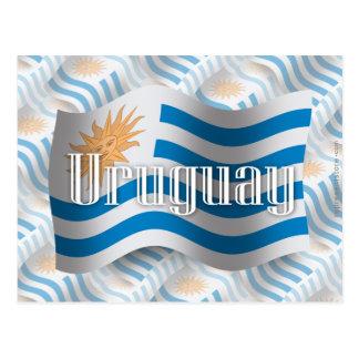 Uruguay Waving Flag Postcard