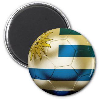 Uruguay World 2 Inch Round Magnet