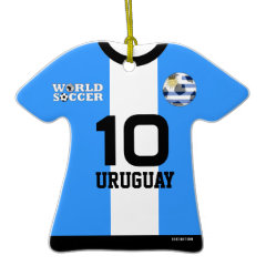 Uruguay World Cup Soccer Jersey Ornament ornament