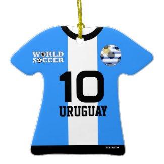 Uruguay World Cup Soccer Jersey Ornament ornament