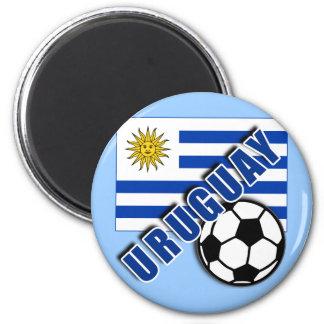 URUGUAY World Soccer Fan Tshirts Magnet