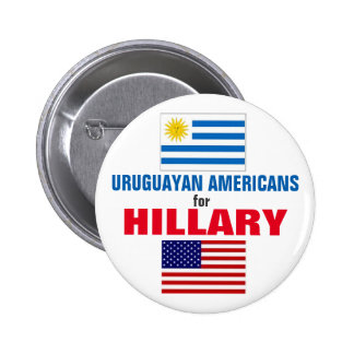 Uruguayan Americans for Hillary 2016 Pinback Button