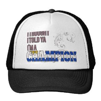 Uruguayan and a Champion Mesh Hats