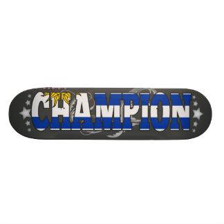 Uruguayan and a Champion Skateboard Deck