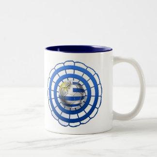 Uruguayan Cockade emblem of Uruguay gifts Two-Tone Coffee Mug