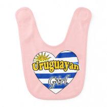 Uruguayan Girl Baby Bib