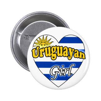 Uruguayan Girl Pinback Buttons