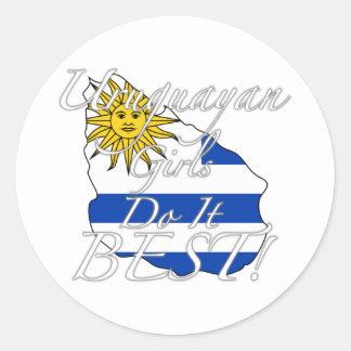 Uruguayan Girls Do It Best! Classic Round Sticker