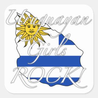 Uruguayan Girls Rock! Square Sticker