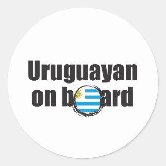 Uruguayan on Board Classic Round Sticker