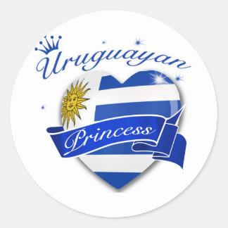 Uruguayan Princess Classic Round Sticker