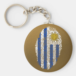 Uruguayan touch fingerprint flag keychain
