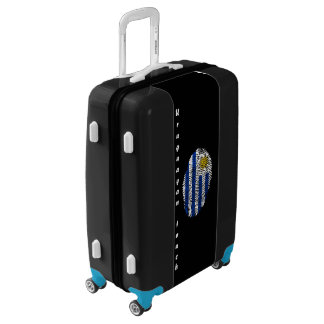 Uruguayan touch fingerprint flag luggage