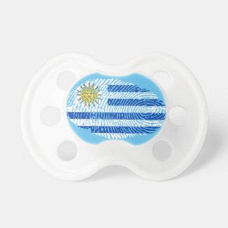 Uruguayan touch fingerprint flag pacifier