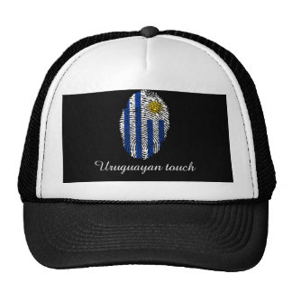 Uruguayan touch fingerprint flag trucker hat