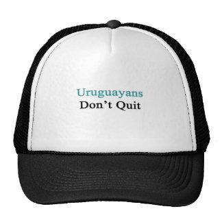 Uruguayans Don't Quit Mesh Hats