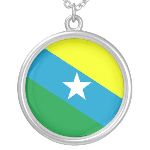 Urupa, Brazil flag Personalized Necklace