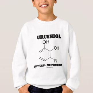 Urushiol apenas me llama molécula de la sustancia sudadera